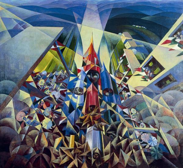 Gerardo Dottori, Il trittico della velocità, 1925-1927, Palazzo delle esposizioni della Penna, Perugia