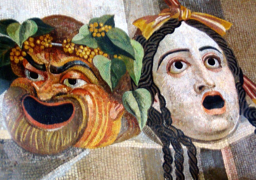 Maschere: Mosaico del I secolo a.C, Musei capitolini, Roma