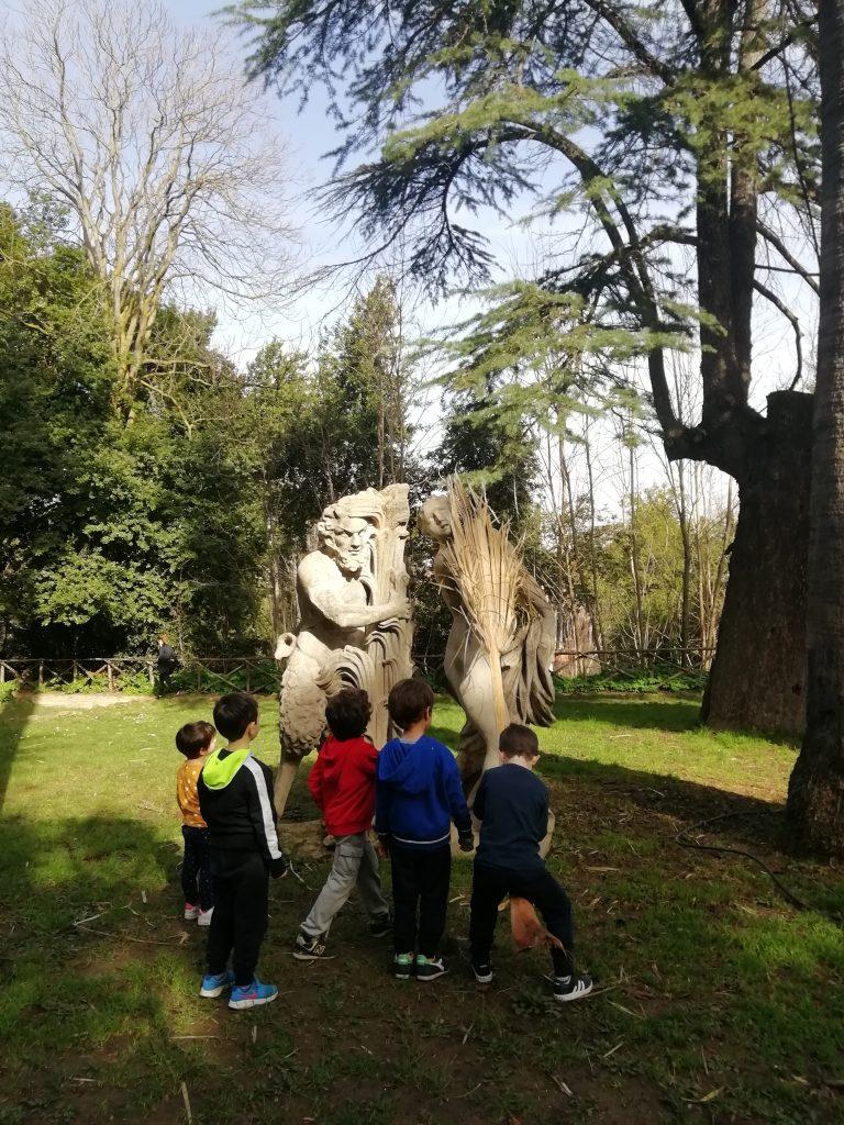 La tribù dei bambini a Villa Sciarra