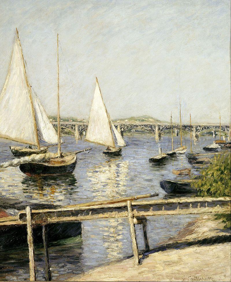 Senna-Gustave Caillebotte, Barche a vela ad Argenteuil, 1888 circa, Parigi, Musée d'Orsay