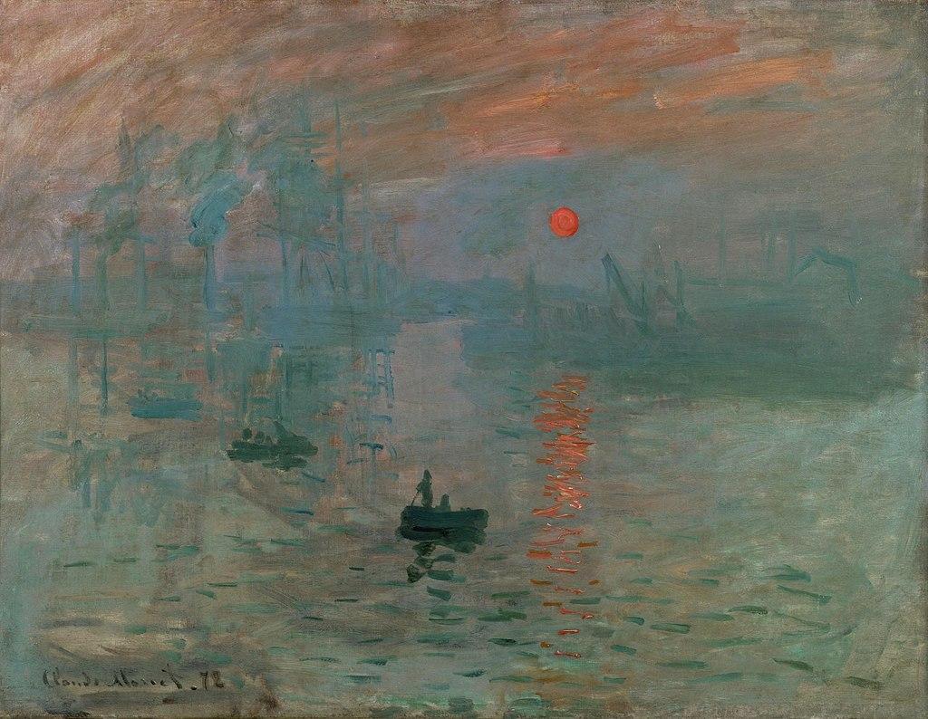 Claude Monet, Impressione, levar del sole, 1872, Musée Marmottan Monet, Parigi