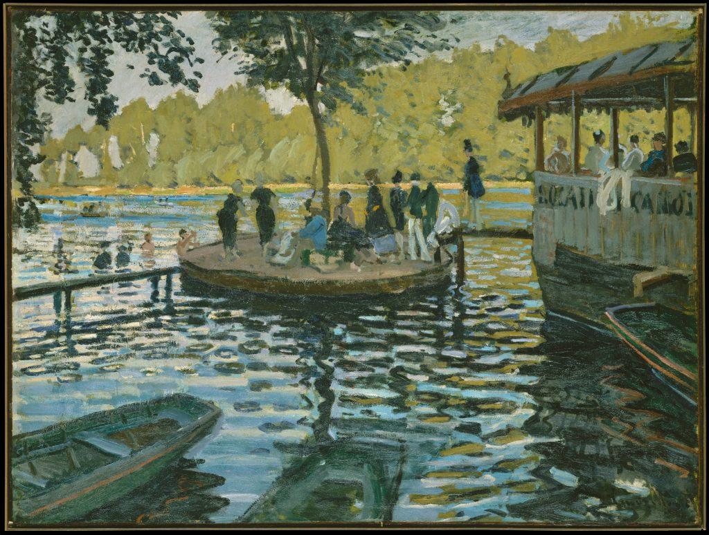 Senna-Claude Monet, La Grenouillère, 1869, New York, The Metropolitan Museum of Art