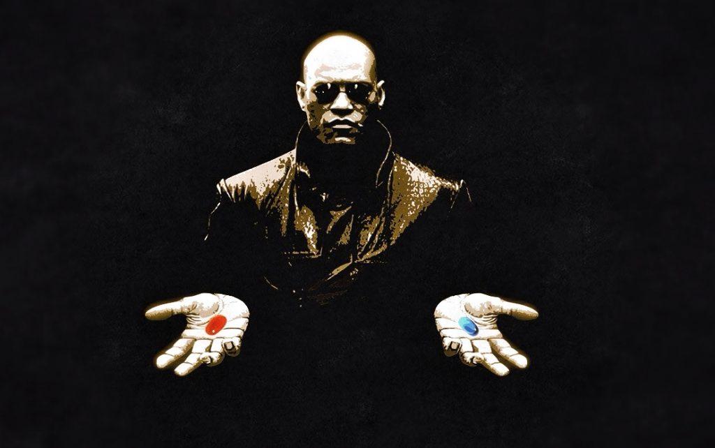 Laurence Fishburne, nei panni di Morpheus. Matrix, 1999