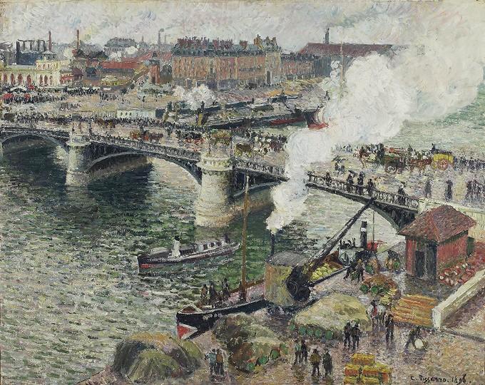 Senna-Camille Pissarro, Ponte Boieldieu a Rouen, tempo umido, 1896, Toronto, Art Gallery of Ontario