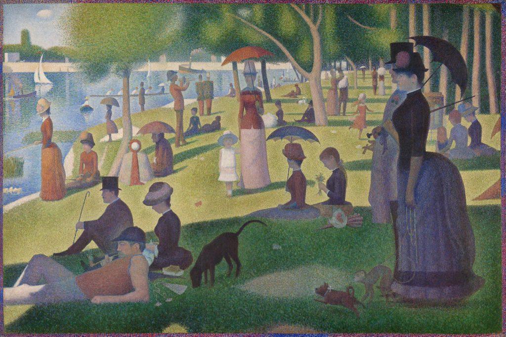 George Seurat, Una domenica pomeriggio all'isola della Grande Jatte, 1884-1886, Chicago, Art Institute