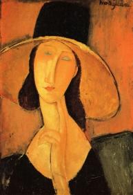 Jeanne Hébuterne con cappello, Amedeo Modigliani, collezione privata 1918