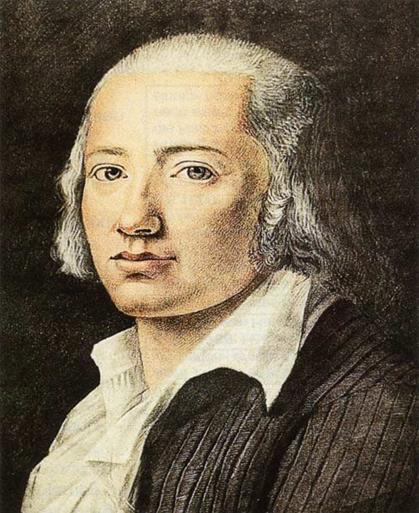 Fiume-Ritratto di Friederich Hölderlin