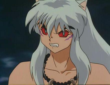 Inuyasha soggiogato dal suo lato demoniaco