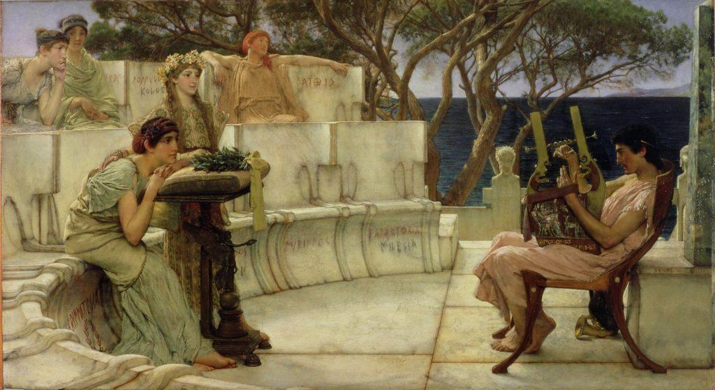 Saffo e Alceo a Mitilene - mela