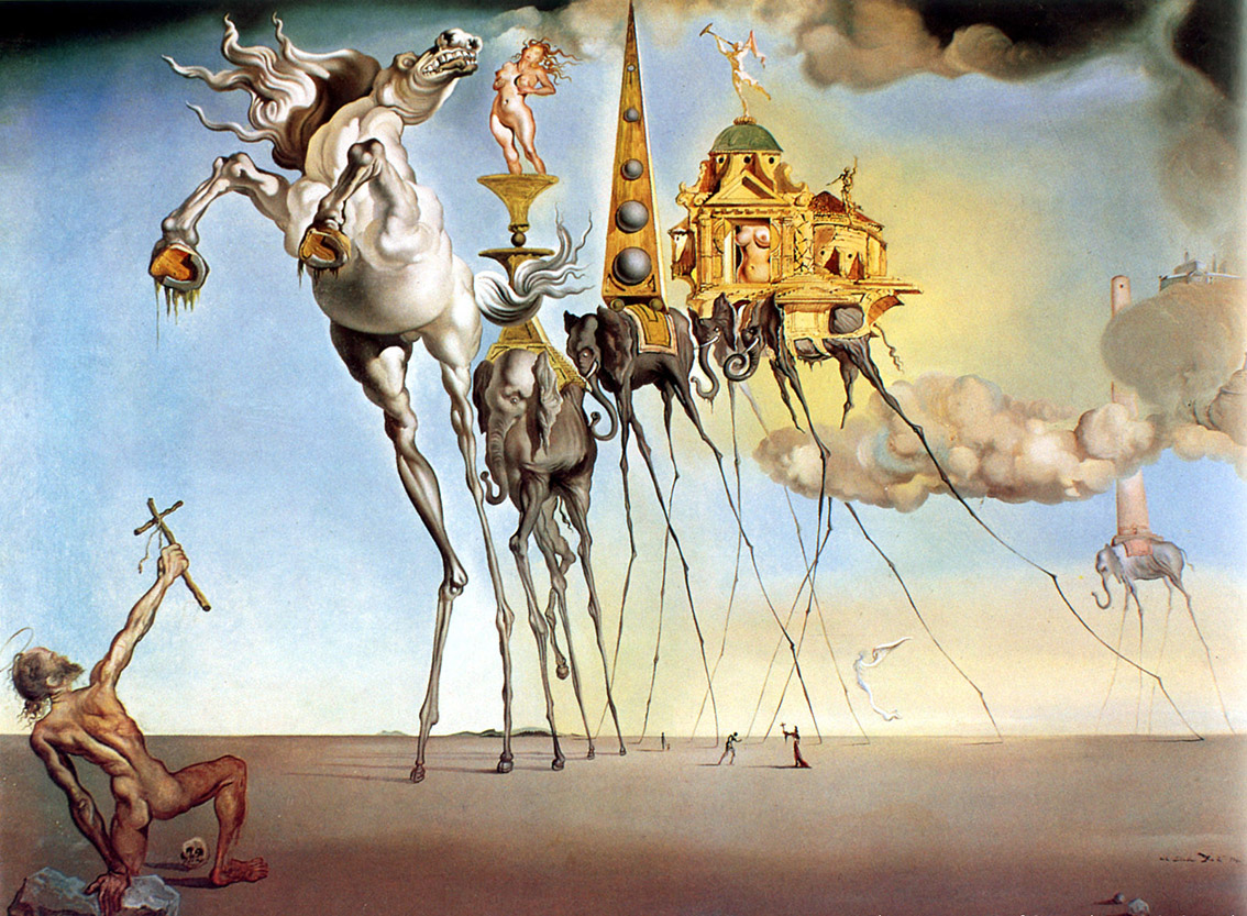 Salvador Dalì, La tentazione di Sant'Antonio - sogno